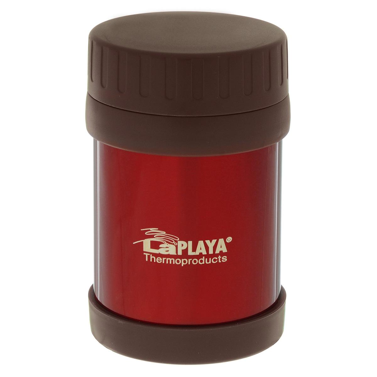Термос для еды LaPlaya Food Container, цвет: красный, 350 мл560081Корпус термоса LaPlaya Food Container изготовлен из высококачественной нержавеющей стали с двумя стенками. Термос оснащен крышкой, благодаря которой сохраняется абсолютная герметичность. Изделие имеет большое горлышко, поэтому идеально подходит для салатов, закусок, первых и вторых блюд.Такой термос удобен в использовании и станет полезным подарком. Диаметр (по верхнему краю): 8 см. Диаметр основания: 8,5 см. Высота (с учетом крышки): 13,5 см.