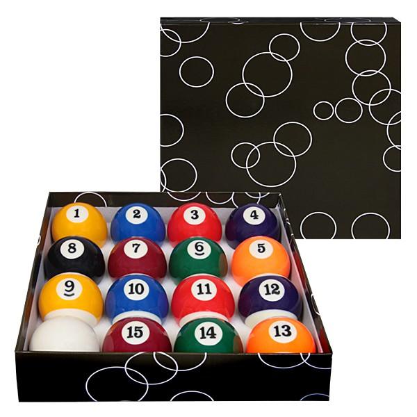 Бильярдные шары Standard Pool, 57,2 мм02620Бильярдные шары Standard Pool - экономичный стандартный набор бильярдных шаров для игры в американскийпул. Рекомендуется для использования в условиях невысокой игровой нагрузки.Описание комплекта:Шаров в комплекте: 16.Вид бильярда: американский пул.Цвет битка: белый.