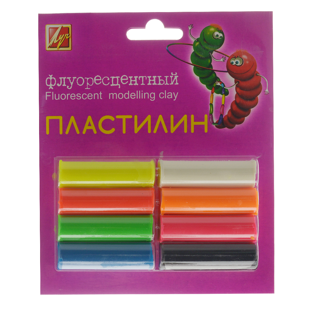 Пластилин Луч, флуоресцентный, 8 цветов всё для лепки спейс пластилин artspace 8 цветов