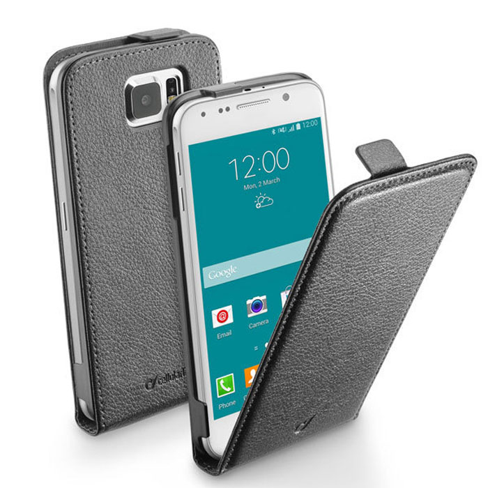 Cellular Line Flap Essential чехол для Samsung Galaxy S6, Black чехол для мобильного телефона cellular line voyagermusic16g
