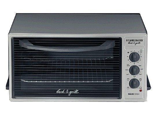 Rommelsbacher BG 1600 мини-печьBG 1600Мини-печь Rommelsbacher BG 1600 — это полноценная духовка, которая помещается на вашем столе. Отлично подходит для запекания птицы, мяса , рыбы, пирогов. Особенностью данной модели является наличие режима гриль, дополнительный верхний нагреватель раскаляется до красного свечения. Внутреннее покрытие эмалевое антипригарное, легко поддается чистке. Селектор температуры (80° - 250° C), позволит выбрать подходящий режим работы. Нагревательные тэны, верхний и нижний, можно включить как по отдельности, так и вместе. В печь встроены освещение и таймер на 90 минут. Дверца изготовлена из термостойкого стекла с герметичным уплотнением. В набор входят противень с эмалированным покрытием и сетка для гриля.
