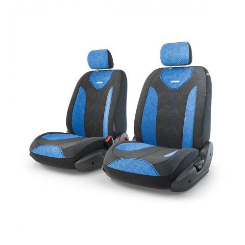 Авточехлы Autoprofi Трансформер Matrix, велюр, цвет: черный, синий, 6 предметовTRS/MTX-001 BK/BLЧехлы Autoprofi Трансформер Matrix - новая модель автомобильных чехлов. Главной особенность их стала модульная конструкция, благодаря которой можно укомплектовать 5-, 7- или 8-местный автомобиль. Запатентованная конструкция чехлов с молниями и торцевыми клапанами позволит их адаптировать в автомобилях с любым кузовом - седана, минивена, кроссовера, внедорожника или универсала. Приэтом специальные клапаны закрывают торцы спинок и подлокотников, позволяя их складывать иобеспечивая плотное прилегание даже на нестандартных креслах.Немаловажно, что данная серия чехлов на автомобильное сиденье оснащена распускаемым боковым швом, что позволяет их использовать в автомобилях с боковой подушкой безопасности. Из прежних наработок, полюбившихся автомобилистам, в серии авточехлов Трансформер сохранилось крепление крючками и липучками, которые прочно фиксируют чехлы на сиденье. Также здесь боковая поддержка и поясничный упор спины, с которыми любая дорога проходит быстрее. Спинка и боковые части автомобильного чехла сделаны из велюра. Чехлы для переднего ряда серии Трансформер сочетаются со всеми чехлами заднего ряда этой же серии.Комплектация: 2 подголовника, 2 спинки переднего ряда, 2 сиденья переднего ряда.Особенности: - Толщина поролона: 5 мм.- Карманы в спинках передних сидений.- Предустановленные крючки на широких резинках.- Крепление передних спинок липучками.- Использование с боковыми airbag.- Поясничный упор.- Боковая поддержка спины.