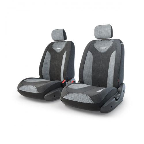 Авточехлы Autoprofi Трансформер Matrix, велюр, цвет: черный, серый, 6 предметовTRS/MTX-001 BK/D.GYЧехлы Autoprofi Трансформер Matrix - новая модель автомобильных чехлов. Главной особенность их стала модульная конструкция, благодаря которой можно укомплектовать 5-, 7- или 8-местный автомобиль. Запатентованная конструкция чехлов с молниями и торцевыми клапанами позволит их адаптировать в автомобилях с любым кузовом - седана, минивена, кроссовера, внедорожника или универсала. Приэтом специальные клапаны закрывают торцы спинок и подлокотников, позволяя их складывать иобеспечивая плотное прилегание даже на нестандартных креслах.Немаловажно, что данная серия чехлов на автомобильное сиденье оснащена распускаемым боковым швом, что позволяет их использовать в автомобилях с боковой подушкой безопасности. Из прежних наработок, полюбившихся автомобилистам, в серии авточехлов Трансформер сохранилось крепление крючками и липучками, которые прочно фиксируют чехлы на сиденье. Также здесь боковая поддержка и поясничный упор спины, с которыми любая дорога проходит быстрее. Спинка и боковые части автомобильного чехла сделаны из велюра. Чехлы для переднего ряда серии Трансформер сочетаются со всеми чехлами заднего ряда этой же серии.Комплектация: 2 подголовника, 2 спинки переднего ряда, 2 сиденья переднего ряда.Особенности: - Толщина поролона: 5 мм.- Карманы в спинках передних сидений.- Предустановленные крючки на широких резинках.- Крепление передних спинок липучками.- Использование с боковыми airbag.- Поясничный упор.- Боковая поддержка спины.