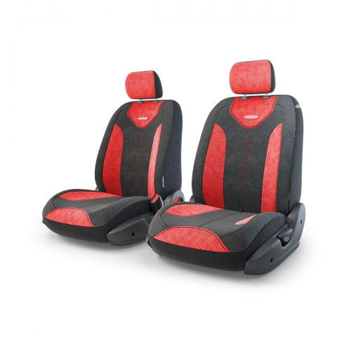 """Авточехлы Autoprofi """"Трансформер Matrix"""", велюр, цвет: черный, красный, 6 предметов"""