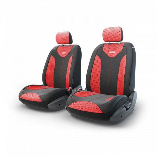 Авточехлы Autoprofi Трансформер Matrix, экокожа, цвет: черный, красный, 6 предметов чехол на сиденье autoprofi mtx 1105 bk rd m