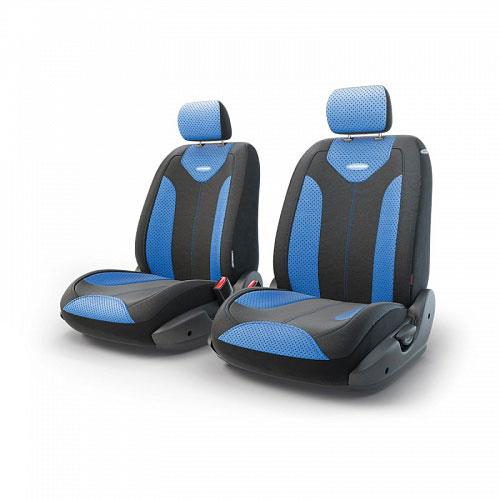 Авточехлы Autoprofi Трансформер Matrix, экокожа, цвет: черный, синий, 6 предметовTRS/MTX-001G BK/BLЧехлы Autoprofi Трансформер Matrix - новая модель автомобильных чехлов. Главной особенность их стала модульная конструкция, благодаря которой можно укомплектовать 5-, 7- или 8-местный автомобиль. Запатентованная конструкция чехлов с молниями и торцевыми клапанами позволит их адаптировать в автомобилях с любым кузовом - седана, минивена, кроссовера, внедорожника или универсала. Приэтом специальные клапаны закрывают торцы спинок и подлокотников, позволяя их складывать иобеспечивая плотное прилегание даже на нестандартных креслах.Немаловажно, что данная серия чехлов на автомобильное сиденье оснащена распускаемым боковым швом, что позволяет их использовать в автомобилях с боковой подушкой безопасности. Из прежних наработок, полюбившихся автомобилистам, в серии авточехлов Трансформер сохранилось крепление крючками и липучками, которые прочно фиксируют чехлы на сиденье. Также здесь боковая поддержка и поясничный упор спины, с которыми любая дорога проходит быстрее. Спинка и боковые части автомобильного чехла сделаны из экокожи. Чехлы для переднего ряда ряда серии Трансформер сочетаются со всеми чехлами заднего ряда этой же серии.Комплектация: 2 подголовника, 2 спинки переднего ряда, 2 сиденья переднего ряда.Особенности: - Толщина поролона: 5 мм.- Карманы в спинках передних сидений.- Предустановленные крючки на широких резинках.- Крепление передних спинок липучками.- Использование с боковыми airbag.- Поясничный упор.- Боковая поддержка спины.