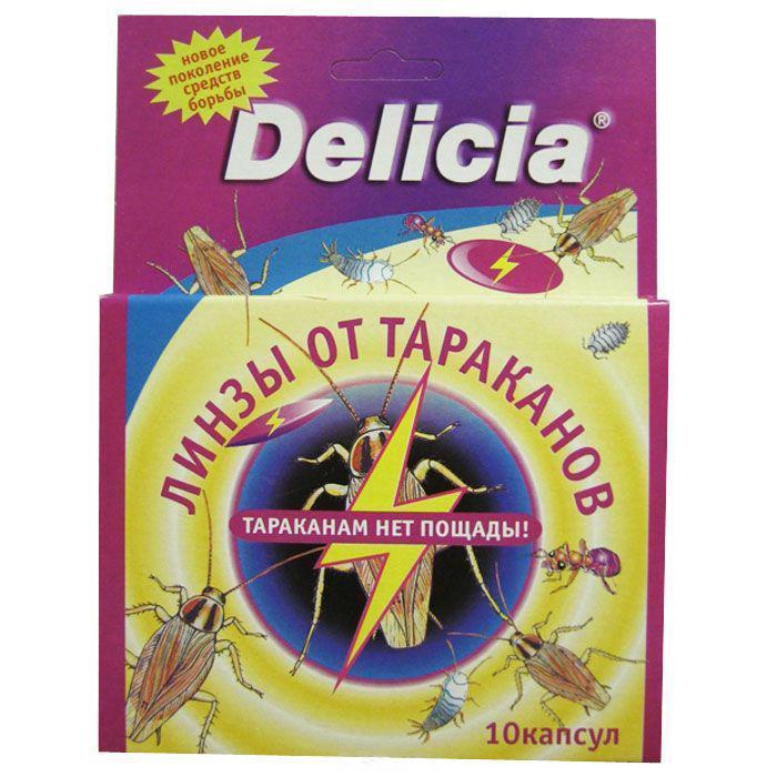 """Линзы-таблетки """"Delicia"""" от тараканов и других ползающих насекомых, 10 капсул. 03038"""