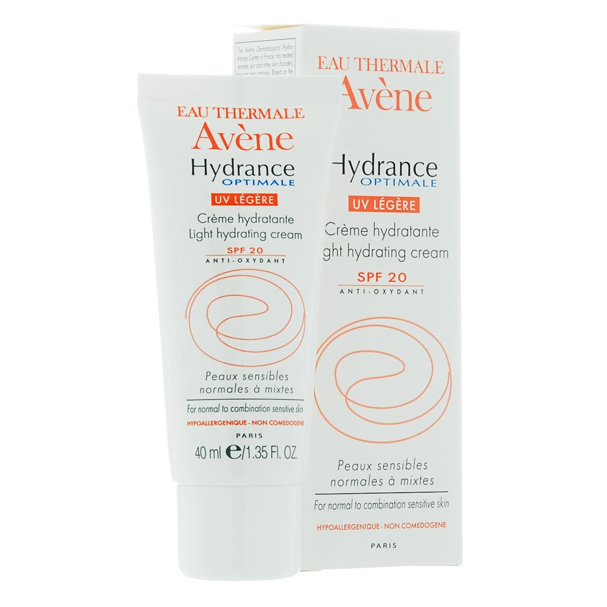 Avene Крем увлажняющий защищающий Hydrance ОПТИМАЛЬ UV20 ЛЕЖЕР для нормальной и смешанной кожи лица 40 млC20631Обеспечивает коже интенсивное и длительное увлажнение, защищает от УФ излучения, предотвращает естественное старение кожи, придает коже матовость. Для нормальной или смешанной чувствительной кожи