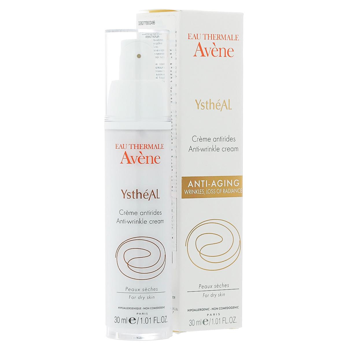 Avene Крем от старения Ystheal+ для лица 30 млC00248Разглаживает морщинки, препятствует снижению тонуса кожи, придает коже сияние. Профилактика и коррекция первых морщин. Для сухой кожи.
