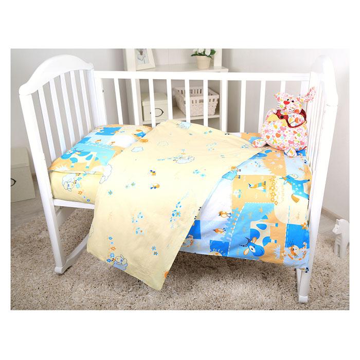 Комплект детского постельного белья Baby Nice Ферма, цвет: голубой, 3 предметаВ 40010Детский комплект постельного белья Baby Nice Ферма состоит из наволочки, пододеяльника и простыни на резинке. Такой комплект идеально подойдет для кроватки вашего малыша и обеспечит ему здоровый сон. Он изготовлен из натурального 100% хлопка, дарящего малышу непревзойденную мягкость. Натуральный материал не раздражает даже самую нежную и чувствительную кожу ребенка, обеспечивая ему наибольший комфорт. Простыня с помощью специальной резинки растягивается на матрасе. Она не сомнется и не скомкается, как бы не вертелся ребенок. Приятный рисунок комплекта, несомненно, понравится малышу и привлечет его внимание. На постельном белье Baby Nice Ферма ваша кроха будет спать здоровым и крепким сном.