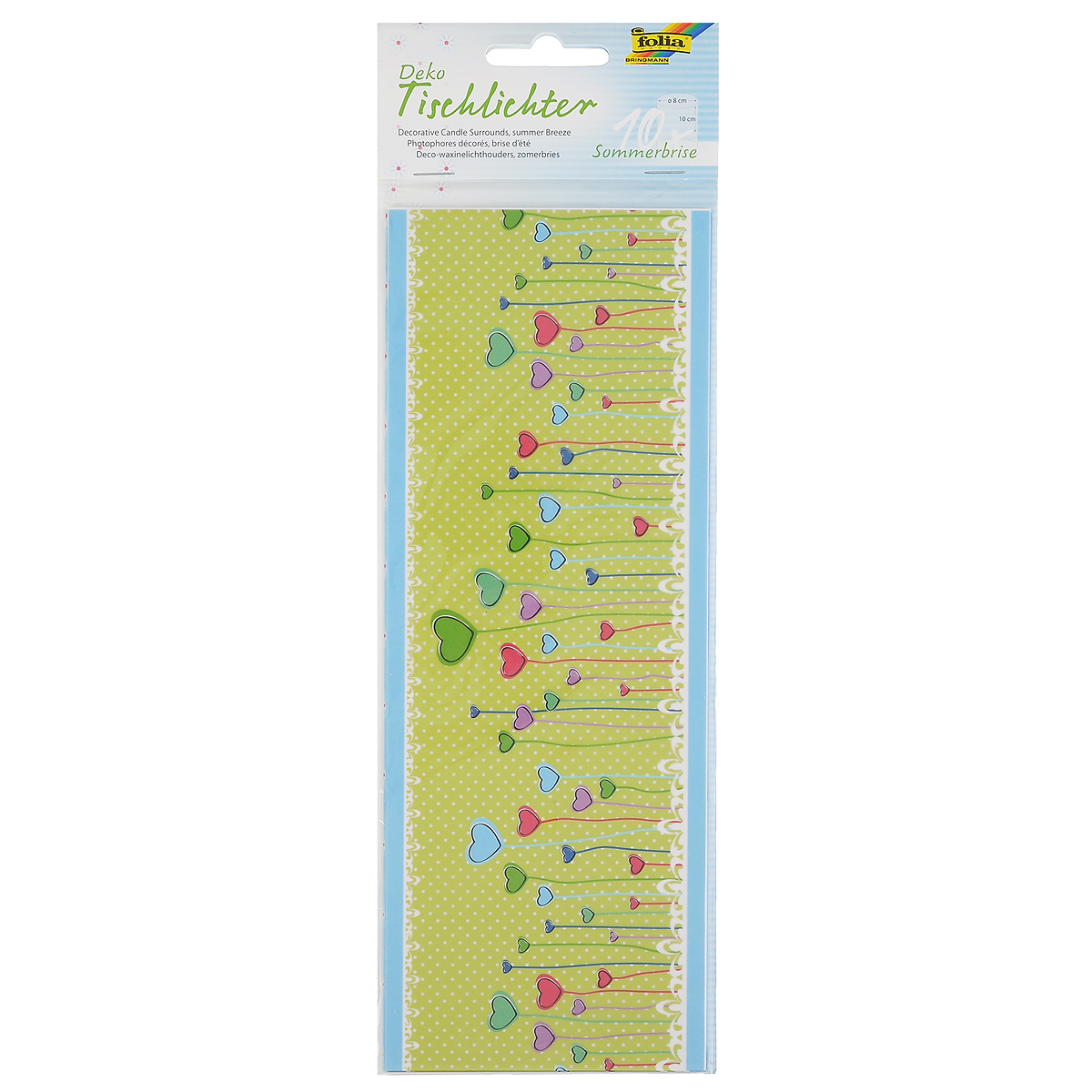 Бумага Folia Летний бриз для украшения свечей, 10 х 27 см, 10 листов бумага папиросная folia 50 см х 70 см 10 листов 7708130