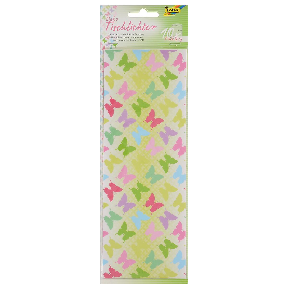 Бумага Folia Весна для украшения свечей, 10 см х 27 см, 10 листов бумага папиросная folia 50 см х 70 см 10 листов 7708130
