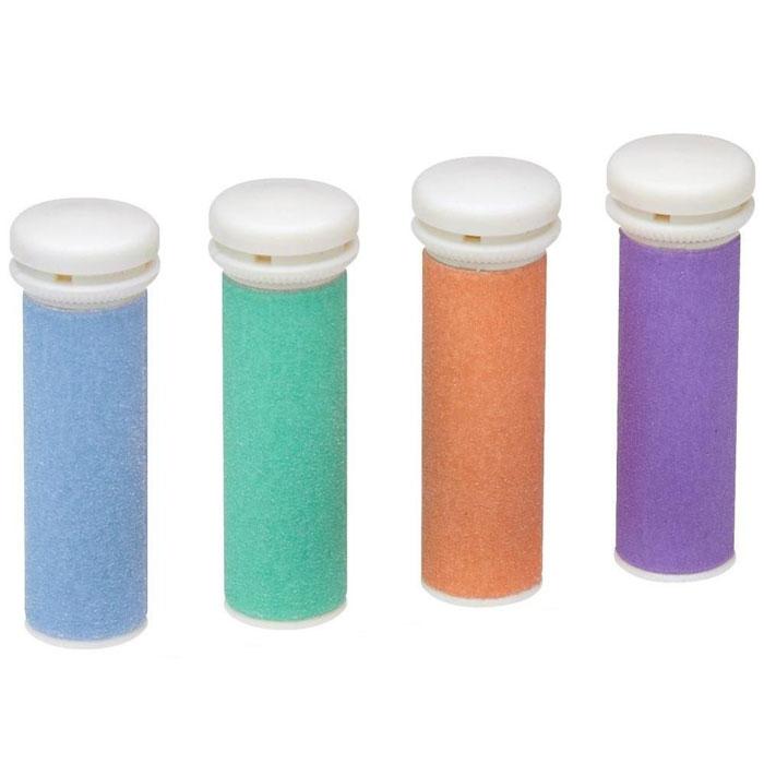 AEG сменные ролики для PHE 5642 (4 шт.)4er Set Ersatzrollen PHEКомплект состоит из 4 сменных роликов разных цветов для электропемзы AEG PHE 5642.