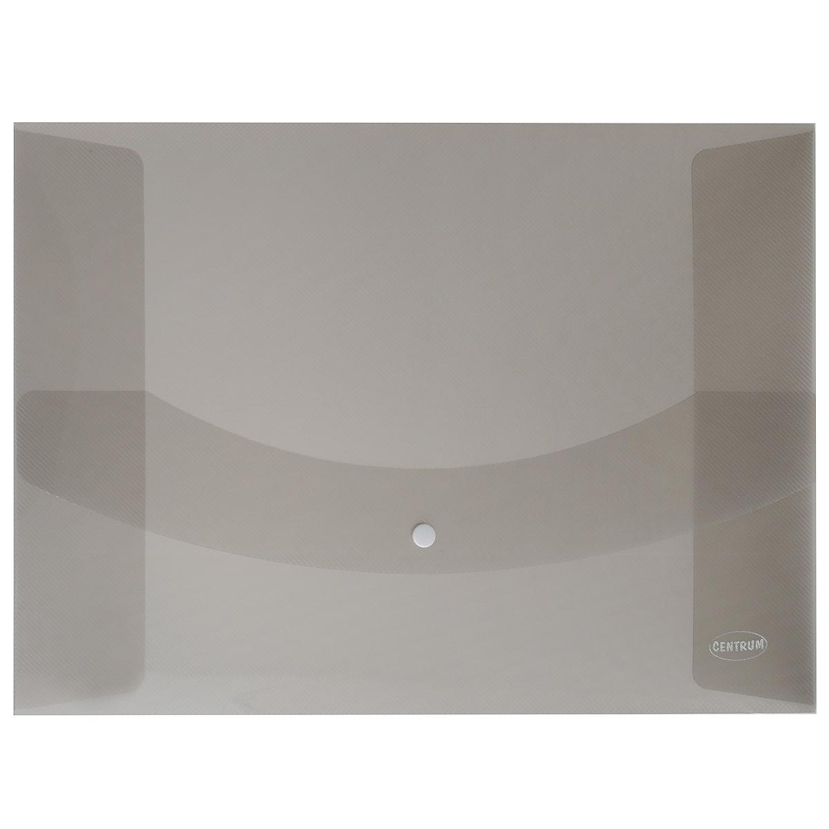 Папка-конверт на кнопке Centrum, цвет: серый. Формат А380626_серый