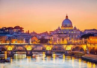 Фотообои Твоя Планета Премиум Рассвет над Римом 291 х 204 см, 9 листов