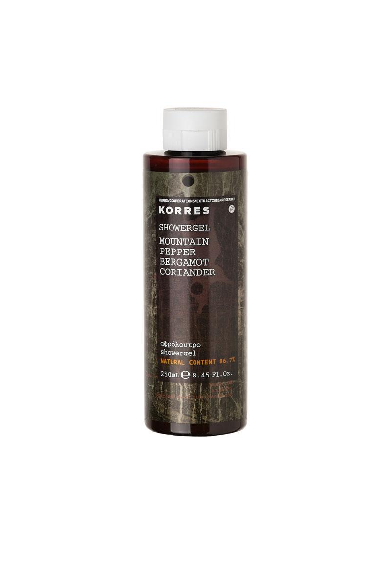 Korres Гель для душа - горный перец 250 мл520306905070186, 7% натуральных ингредиентов. Увлажняющий парфюмированный гель для душа обладает приятным древесным ароматом (горный перец, бергамот, кориандр). Идеален для ежедневного использования. В основе геля - протеины пшеницы, которые образуют на коже защитную пленку, поддерживая ее обычный уровень увлажнения.* Активный экстракт алоэ - увлажнение, антиоксидант, поддерживает кожный иммунитет * Протеины пшеницы - образуют защитную пленку на коже * Протеины овса - образуют защитную пленку на кожеНаносите на влажную кожу при принятии душа или ванны.