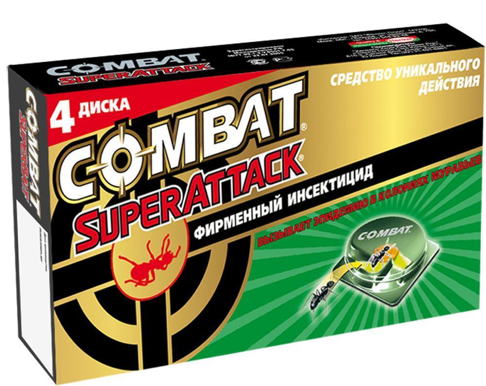 """Фото Ловушки для муравьев """"Combat Superattack"""", 4 шт"""