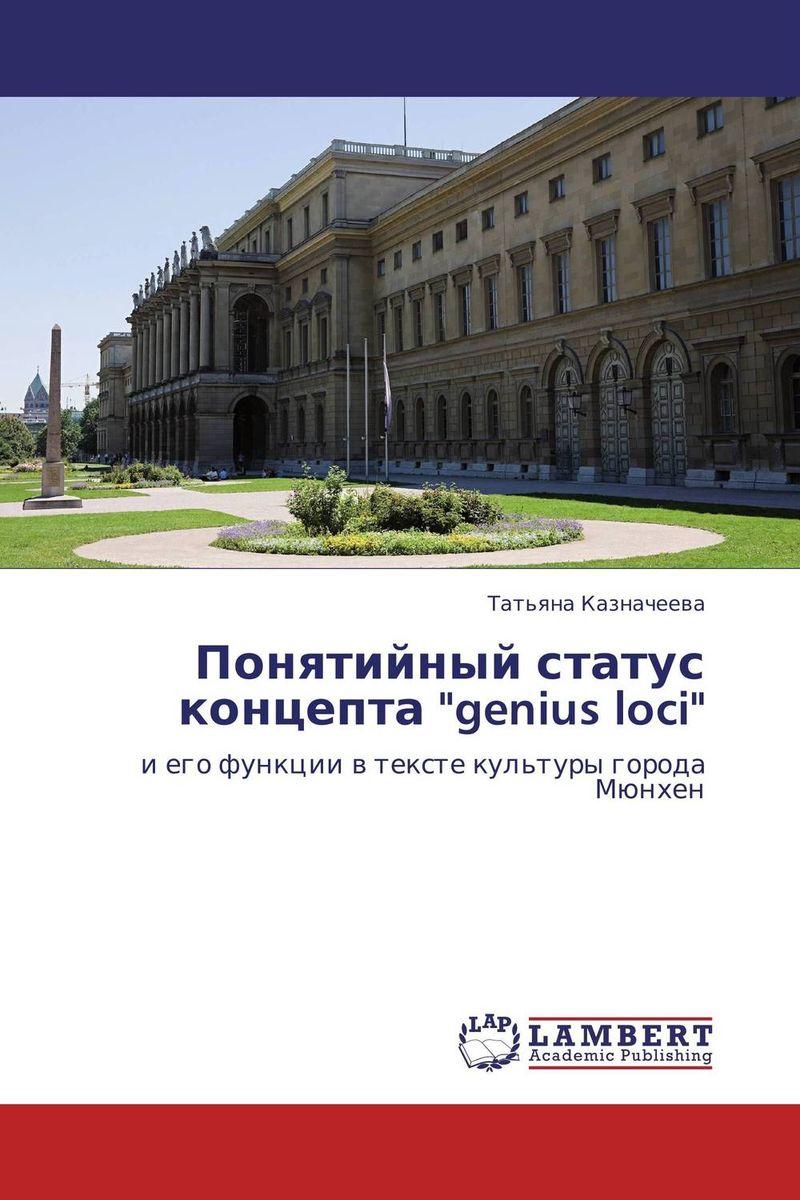 Понятийный статус концепта genius loci genius loci