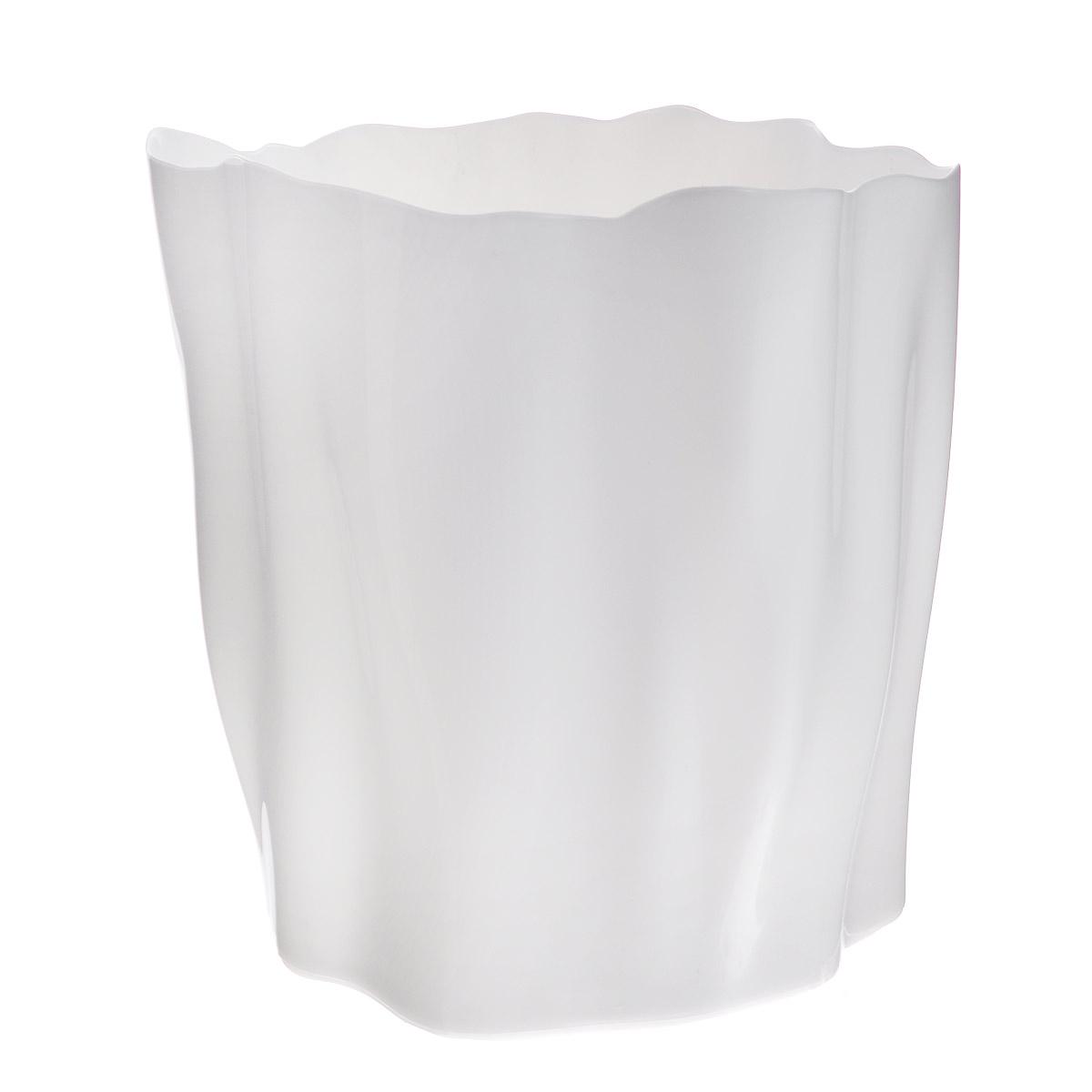 """Органайзер Qualy Flow, большой, цвет: белый, диаметр 27 смQL10141-WHОрганайзер Qualy """"Flow"""" может пригодиться на кухне, в ванной, в гостиной, на даче, на природе, в городе, в деревне. В него можно складывать фрукты, овощи, хлеб, кухонные приборы и аксессуары, всевозможные баночки, можно использовать органайзер как мусорную корзину, вазу. Все зависит от вашей фантазии и от хозяйственных потребностей! Пластиковый оригинальный органайзер пригодится везде!Диаметр: 27 см.Высота стенки: 28 см."""
