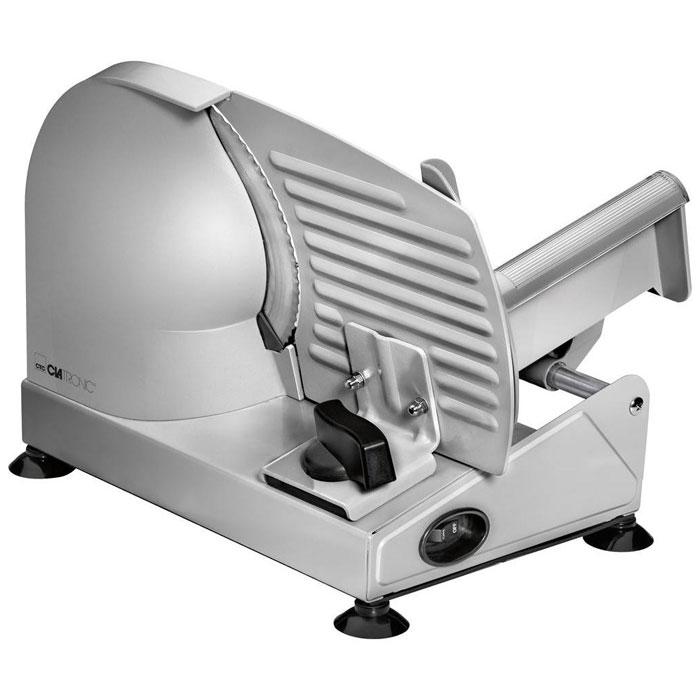 Clatronic MA 3585, Grey ломтерезкаMA 3585 серЛомтерезка Clatronic MA 3585 имеет полностью металлический корпус. Высокое качество работы обеспечивает специальный нож из нержавеющей стали диаметром 190 мм с волнистой заточкой, а также направляющие салазки. Имеется возможность бесступенчатой установки толщины резки от 0 до 15 мм. Держатель продукта обладает защитой от защемления пальцев. Нескользящие ножки с присосками обеспечат комфортное использование прибора.