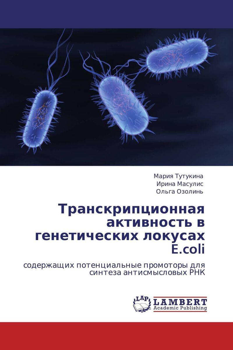 Транскрипционная активность в генетических локусах E.coli