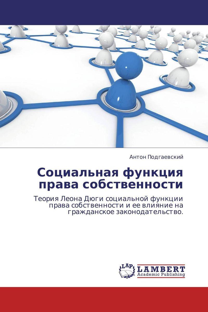 Социальная функция права собственности алгоритмы теория и практическое применение