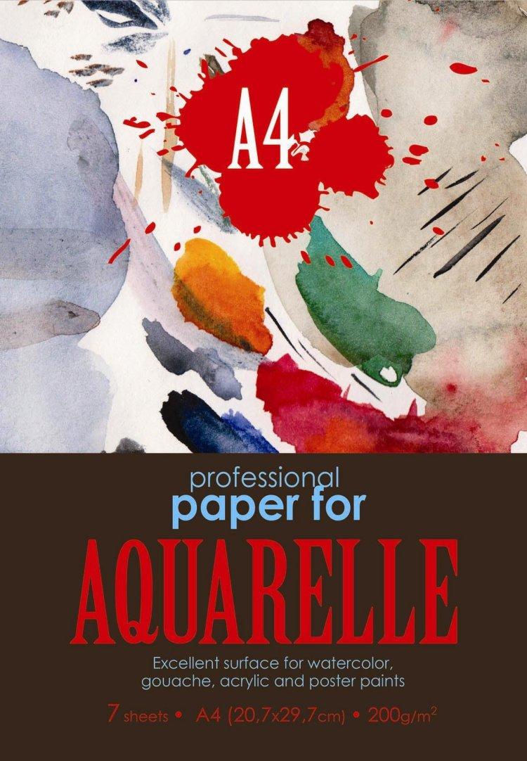 Папка для акварели Kroyter, 7 листов, формат А405411Папка для акварели Kroyter поможет овладеть этой техникой живописи. Предназначена длярисования всеми видами водорастворимых красок. Бумага прекрасно впитывает влагу, чтоявляется необходимым условием для работы с акварелью. Комплект содержит 7 листов бумаги скрупным зерном, формата А4 и плотностью 200 г/м2, упакованных в картонную папку.Не рекомендуется для масляных красок.