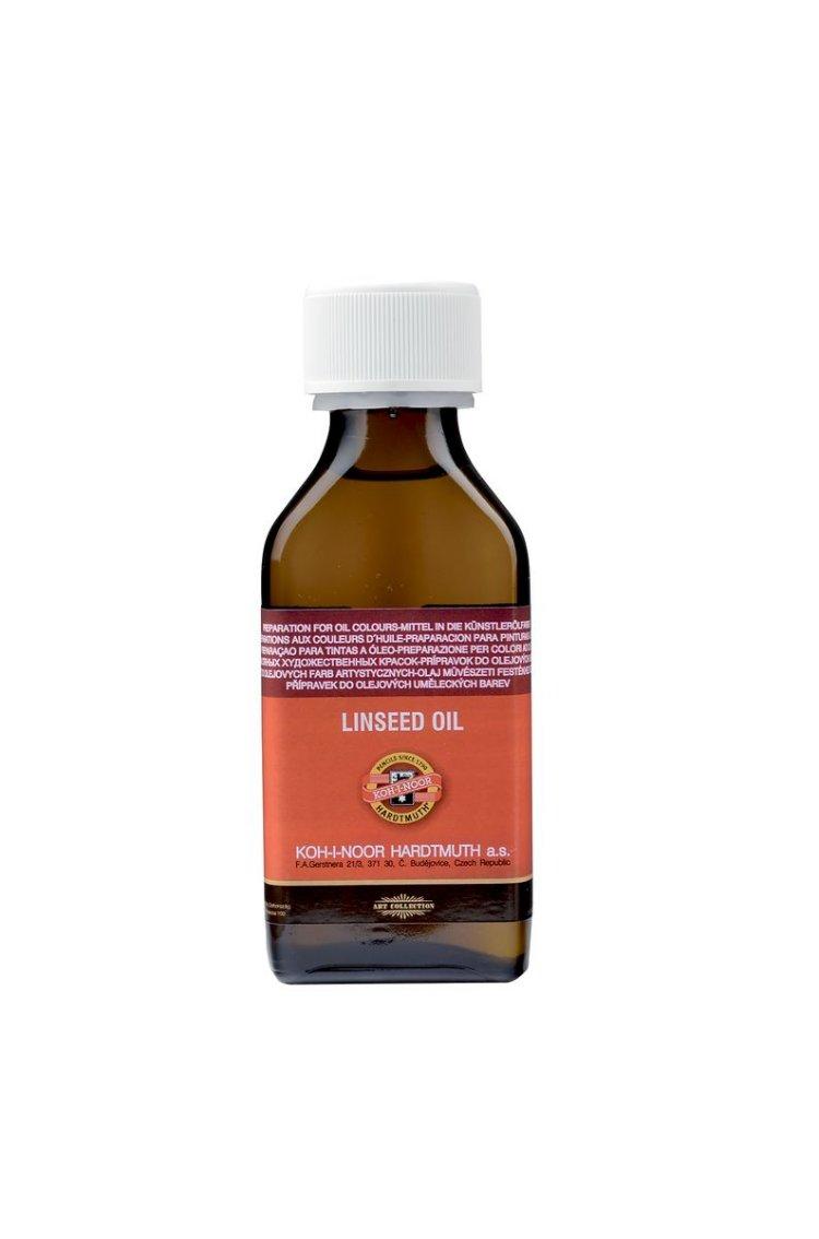 Масло льняное Koh-i-Noor, 100 мл165533Льняное масло Koh-i-Noor, изготовленное из отборных семян льна, подверглось процедуре бережной очистки с целью извлечения из продукта различных примесей. Краски, разбавленные льняным маслом, сохнут быстрее, так как именно льняное масло имеет максимальную из всех натуральных масел сиккативную способность. Отлично подходит для темных масляных красок и красок, сохнущих относительно медленно.
