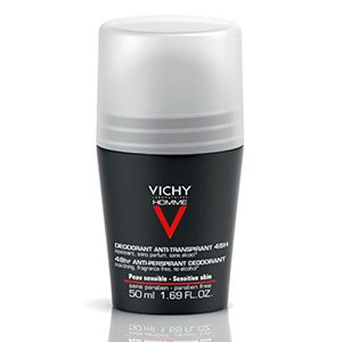 Vichy Дезодорант шариковый 48 часов для чувствительной кожи Vichy Homme, 50 мл17214691С Олиго-Цинком. Уменьшает повышенную чувствительность кожи и повышает её естественные защитные свойства. Обеспечивает надёжную защиту от пота в течение всего дня. Возвращает коже чувство свежести. Эффективен в течение 48-и часов. Объединяет в себе два свойства: замедляет потоотделение и уменьшает повышенную чувствительность кожи. Не содержит алкоголя и парфюмерных отдушек.