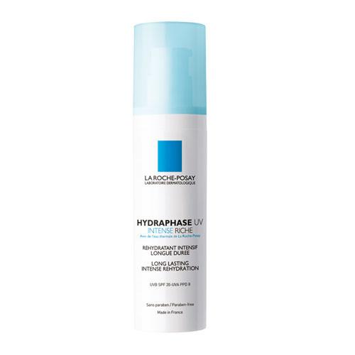 La Roche-Posay Увлажняющий крем для лица Hydraphase UV Интенс Риш 50 млM2937800Мгновенное увлажнение плюс длительное интенсивное увлажнение** Клинический тест выполнен с участием 24 женщин от 18 до 60 лет. Оценка с помощью корнеометра.Формула содержит Фрагментированную Гиалуроновую Кислоту, которая оказывает двойное действие:- Интенсивное увлажнение и насыщение кожи влагой.- Усиление клеточного сцепления для длительного удержания влаги в коже.Система солнечных фильтров защищает кожу от ежедневного повреждающего воздействия UVA и UVB-лучей. Клеточные соединения сохранены и защищены. Обеспечено длительное увлажнение кожи.