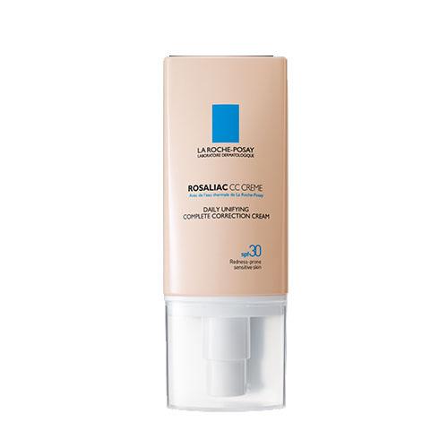 La Roche-Posay Комплексный дневной корректирующий крем Rosaliac СС 50 млM7771900Комплексный CC крем мгновенно маскирует и эффективно корректирует все виды покраснений. Универсальный оттенок позволяет применять крем для кожи любого тона: от самого светлого до смуглого. Легко наносится и равномерно распределяется по коже. Обеспечивает защиту от солнца SPF30.