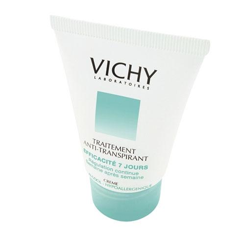 Vichy Дезодорант-крем 7 дней, регулирующий избыточное потоотделение, 30 млV030301Результат - уменьшение потоотделения и ощущение свежести кожи. Уровень потоотделения снижается и поддерживается на низком уровне.Гарантирует эффективность в течение 7 дней при использовании два раза в неделю. Не содержит алкоголя.