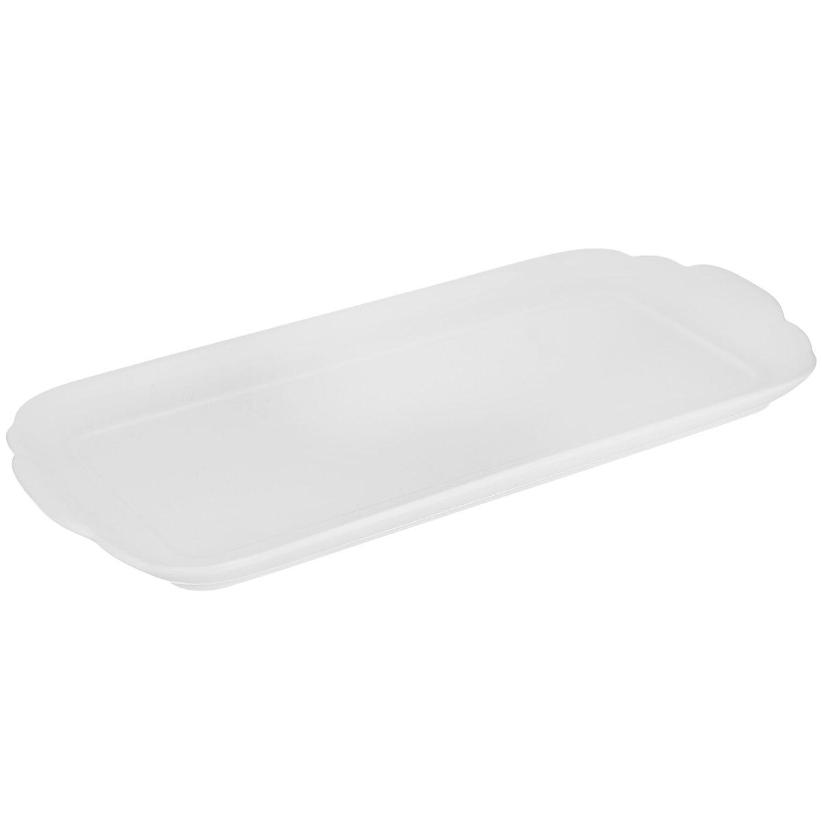 Блюдо Royal Porcelain, цвет: белый, 15 см х 33 см89ww/0335Блюдо Royal Porcelain изготовлено из высококачественного костяного фарфора. Основными достоинствами изделий из костяного фарфора являются прочность и абсолютно гладкая глазуровка. Блюдо имеет специальную форму, которая идеально подходит для сервировки рыбы, а также нарезок и закусок.Изящное блюдо Royal Porcelain великолепно украсит праздничный стол и станет прекрасным дополнением к вашему кухонному инвентарю.Можно мыть в посудомоечной машине. Размер блюда (по верхнему краю): 15 см х 33 см. Высота блюда: 2 см.
