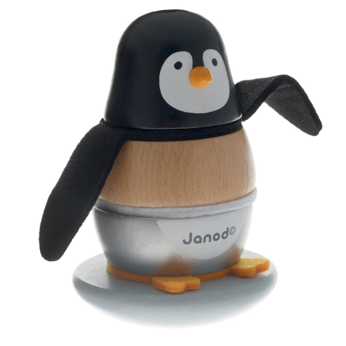 Janod Пирамидка Пингвинчик сортеры janod игрушка пирамидка собачка