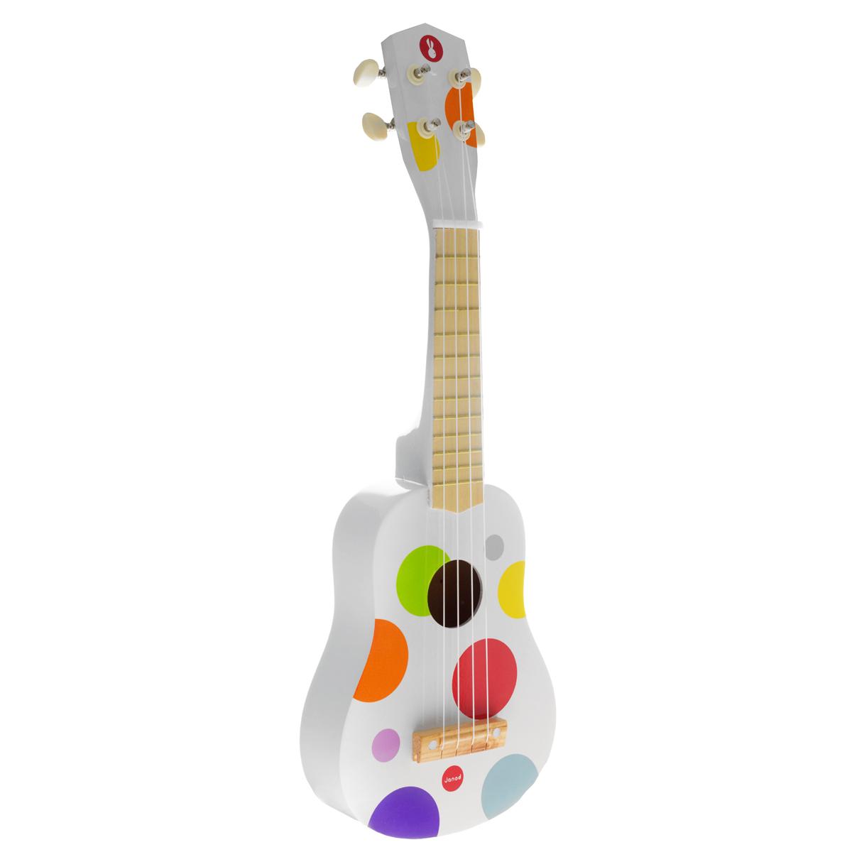 Janod Гитара гавайская цвет белый цена