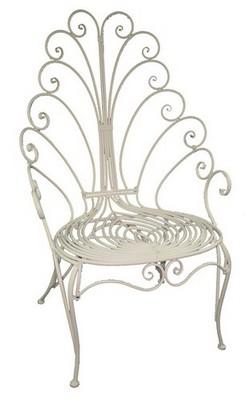 Кресло Blossom Line Павлин, металлическое, 71 x 70 x 121 смBL090955Кресло Blossom Line Павлин, изготовленное из качественного металла белого цвета, имеетспециальное покрытие, защищающее от коррозии. Кресло выполнено в винтажном стиле сажурной спинкой, которая напоминает распущенный хвост павлина.Такой предмет мебели станет оригинальным дополнением к вашему интерьеру или экстерьеру.Размер кресла: 71 x 70 x 121 см.