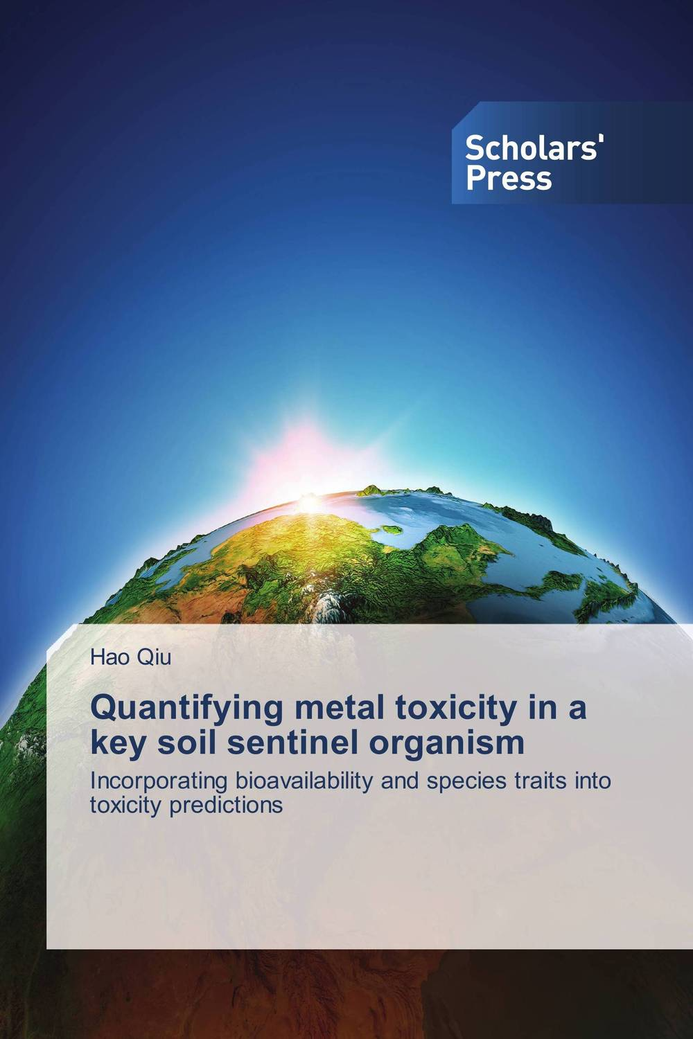 Quantifying metal toxicity in a key soil sentinel organism toxicity in crustaceans and fishes