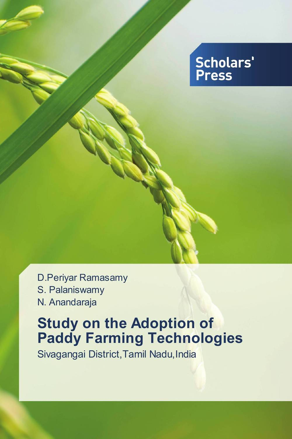 Study on the Adoption of Paddy Farming Technologies community spate irrigation in raya valley