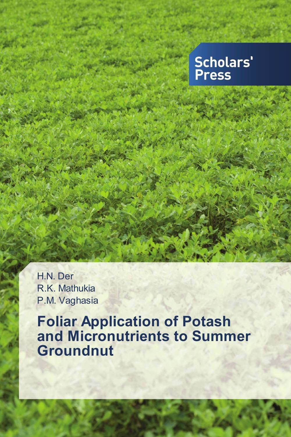 Foliar Application of Potash and Micronutrients to Summer Groundnut h n gour pankaj sharma and rakesh kaushal pathological aspects and management of root rot of groundnut
