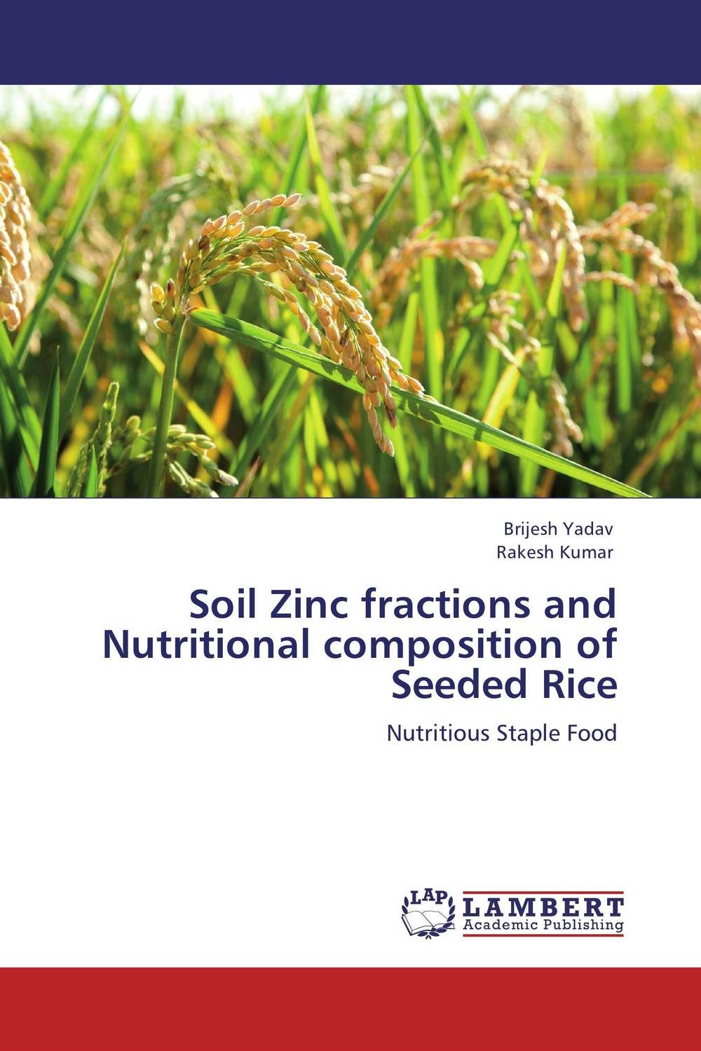 Soil Zinc fractions and Nutritional composition of Seeded Rice brijesh yadav and rakesh kumar soil zinc fractions and nutritional composition of seeded rice