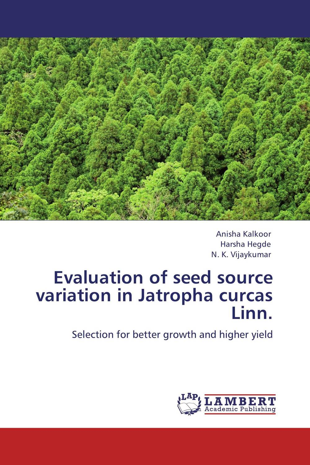 Evaluation of seed source variation in Jatropha curcas Linn. evaluation of lucern as a predator source for wheat aphids