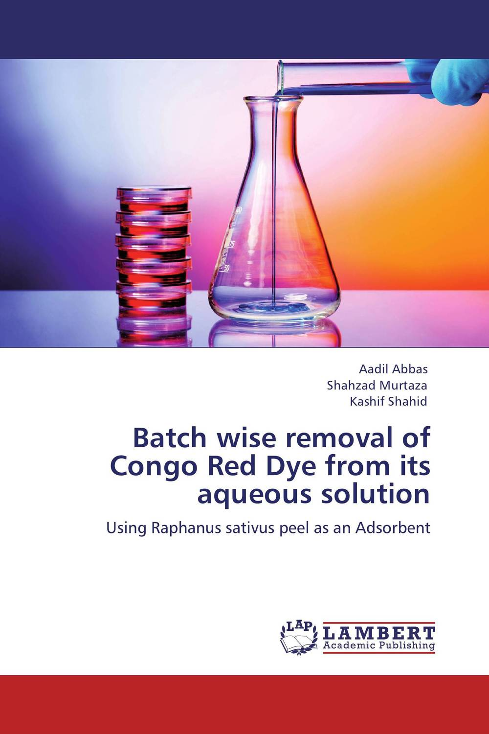 Batch wise removal of Congo Red Dye from its aqueous solution comparative adsorption study of methylene blue on low cost adsorbent