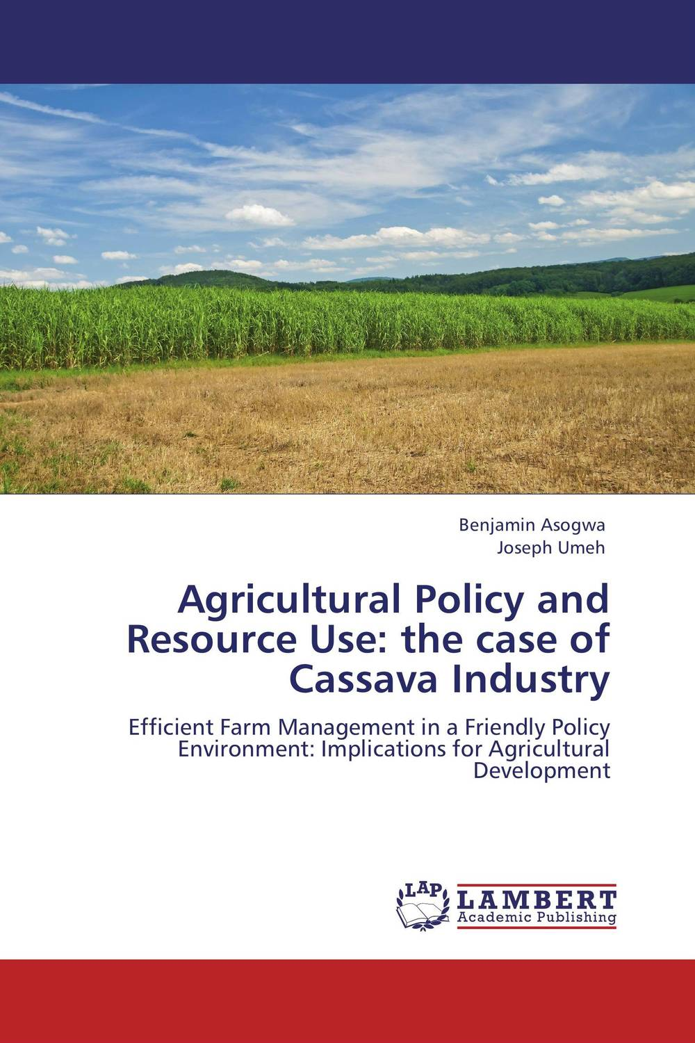 Agricultural Policy and Resource Use: the case of Cassava Industry lm2576s 3 3