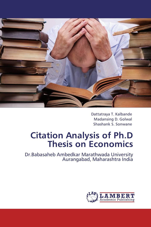 Citation Analysis of Ph.D Thesis on Economics