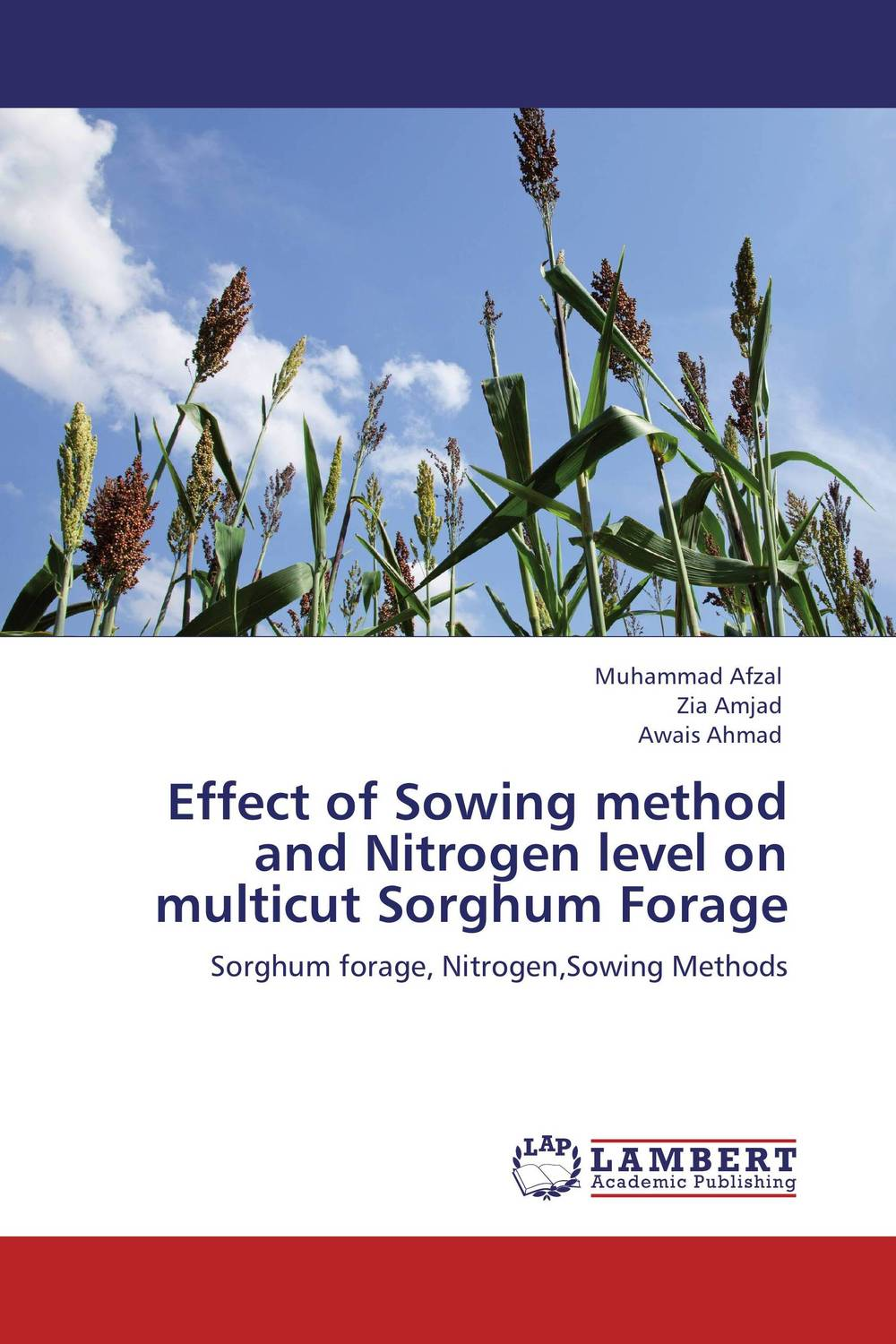 Effect of Sowing method and Nitrogen level on multicut Sorghum Forage devendra mandal and rakesh kumar effect of sowing date and weed control methods on direct seeded rice