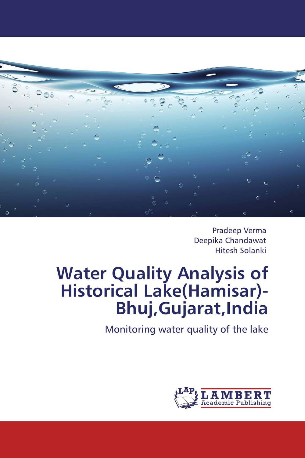 Water Quality Analysis of Historical Lake(Hamisar)- Bhuj,Gujarat,India bride of the water god v 3