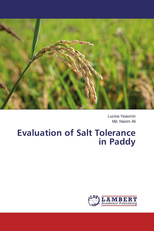 Evaluation of Salt Tolerance in Paddy krishna kaveri das debabrata panda and ramani kumar sarkar screening of submergence tolerance in rice