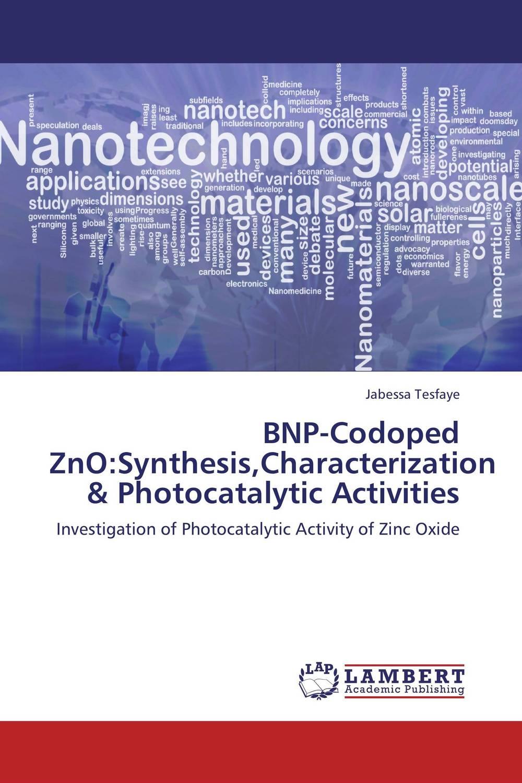 BNP-Codoped ZnO:Synthesis,Characterization & Photocatalytic Activities zno nanowires