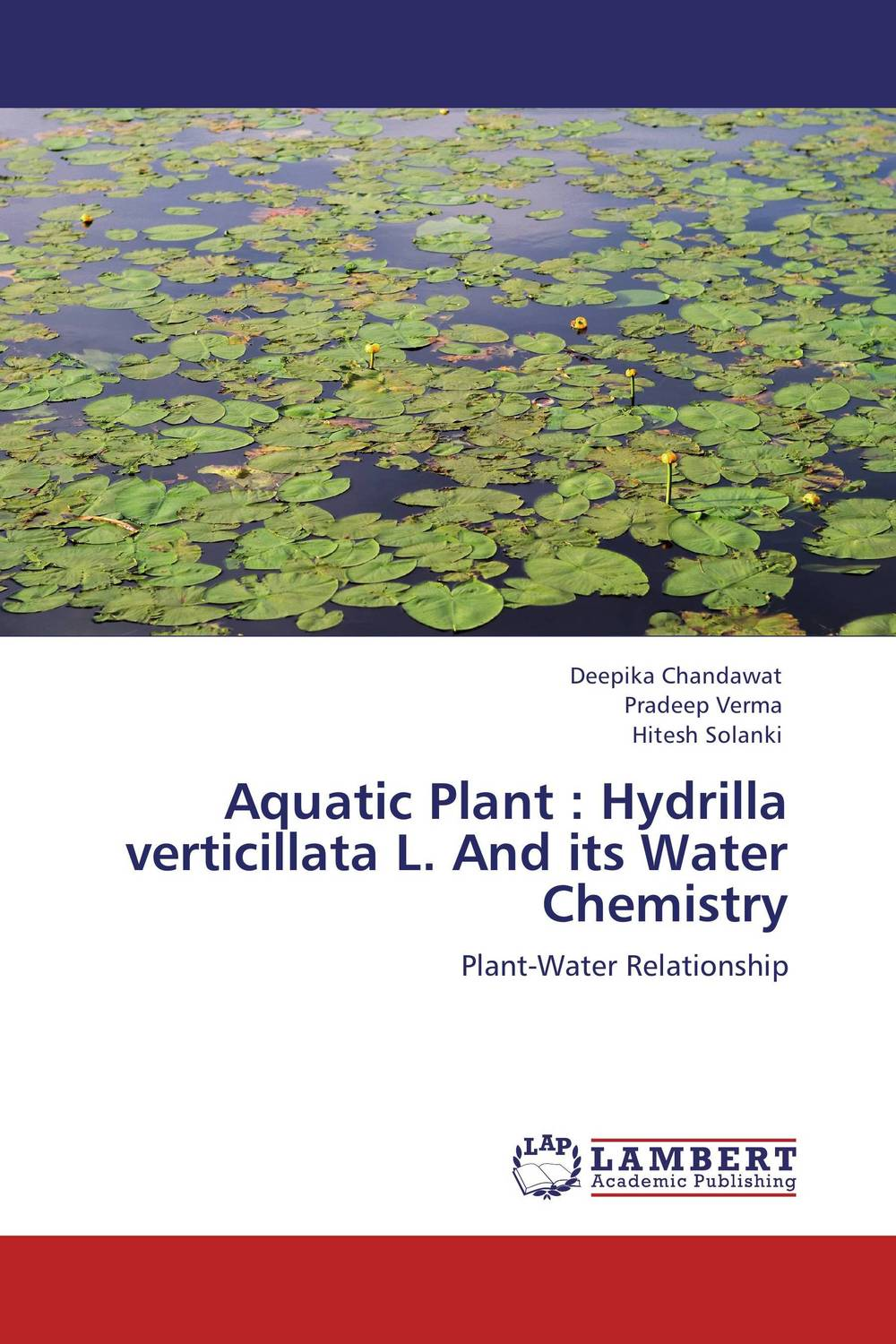 Aquatic Plant : Hydrilla verticillata L. And its Water Chemistry ornamental plant production in recycled water