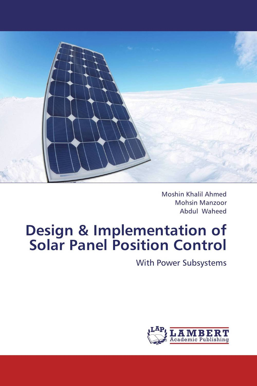 Design & Implementation of Solar Panel Position Control